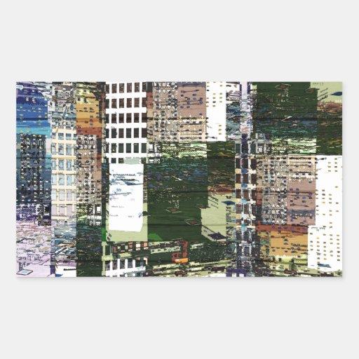 Pedazos de una ciudad rectangular altavoces