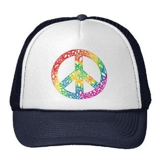 Pedazos del arco iris de paz gorras
