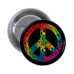 Pedazos del arco iris de paz pin