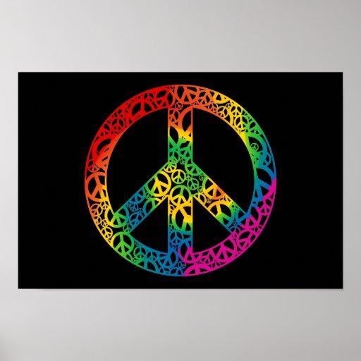 Pedazos del arco iris de paz posters