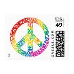 Pedazos del arco iris de paz sello