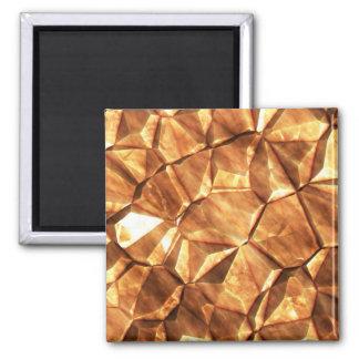 Pedazos del fondo de las pepitas de oro imanes de nevera
