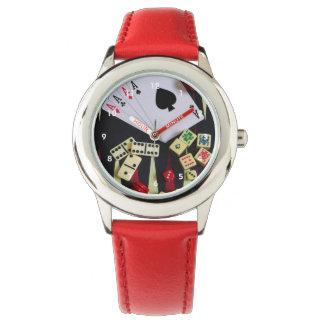Pedazos del juego del casino de juego relojes de pulsera