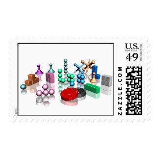 Pedazos del juego sellos