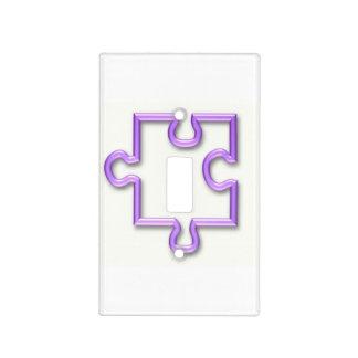 Pedazos del rompecabezas cubiertas para interruptor