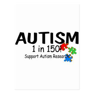 Pedazos del rompecabezas de Reachers del autismo Tarjetas Postales