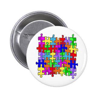 Pedazos del rompecabezas del autismo pin redondo 5 cm
