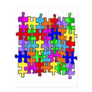 Pedazos del rompecabezas del autismo postales