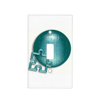 Pedazos del rompecabezas tapas para interruptores