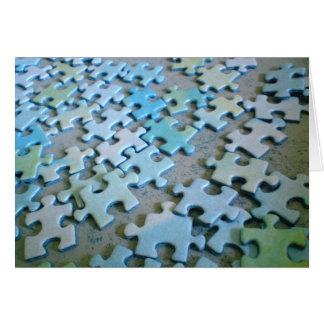Pedazos del rompecabezas tarjeta de felicitación