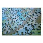 Pedazos del rompecabezas tarjetas