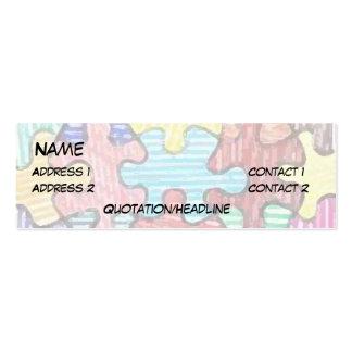 Pedazos del rompecabezas tarjetas de visita mini