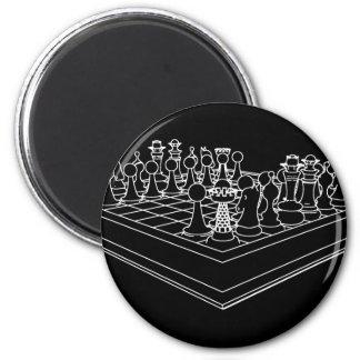 Pedazos del tablero de ajedrez y de ajedrez: imán redondo 5 cm