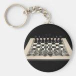 Pedazos del tablero de ajedrez y de ajedrez: Llave