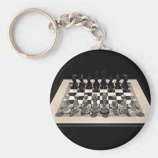Pedazos del tablero de ajedrez y de ajedrez Llave