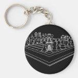 Pedazos del tablero de ajedrez y de ajedrez: llaveros personalizados