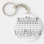 Pedazos del tablero de ajedrez y de ajedrez: llavero personalizado