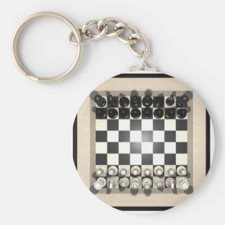 Pedazos del tablero de ajedrez y de ajedrez: llavero redondo tipo pin