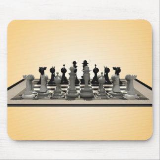 Pedazos del tablero de ajedrez y de ajedrez: Mouse Alfombrillas De Raton