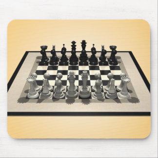 Pedazos del tablero de ajedrez y de ajedrez: Mouse Mousepad