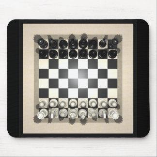 Pedazos del tablero de ajedrez y de ajedrez: Mouse Mousepads