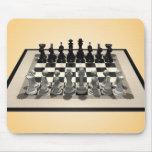 Pedazos del tablero de ajedrez y de ajedrez: Mouse Tapete De Ratón