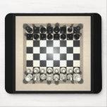 Pedazos del tablero de ajedrez y de ajedrez: Mouse Alfombrilla De Raton