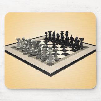 Pedazos del tablero de ajedrez y de ajedrez: Mouse Tapetes De Ratón
