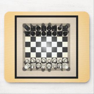 Pedazos del tablero de ajedrez y de ajedrez: Mouse Tapetes De Ratones