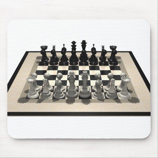 Pedazos del tablero de ajedrez y de ajedrez: mousepads
