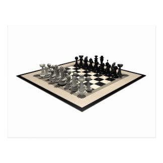 Pedazos del tablero de ajedrez y de ajedrez: postal