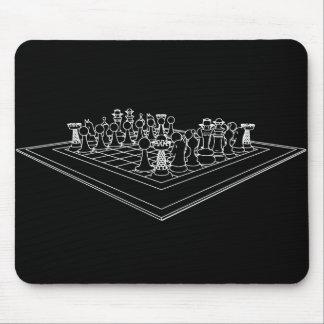 Pedazos del tablero de ajedrez y de ajedrez: tapete de ratones