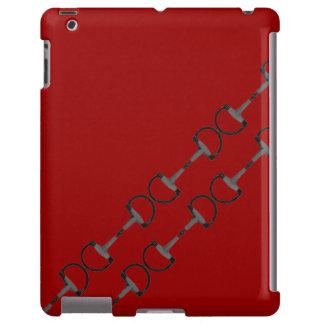 Pedazos ecuestres del caballo funda para iPad