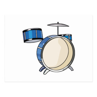 pedazos simple blue.png del drumset tres postal