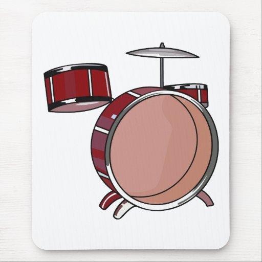 pedazos simple red.png del drumset tres tapetes de ratón