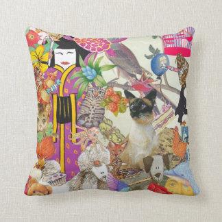 Pedazos y collage de las sacudidas 1 almohada