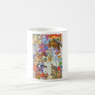 Pedazos y taza del collage 2 de las sacudidas