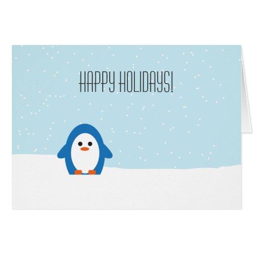 Peddler Penguin Holiday Card