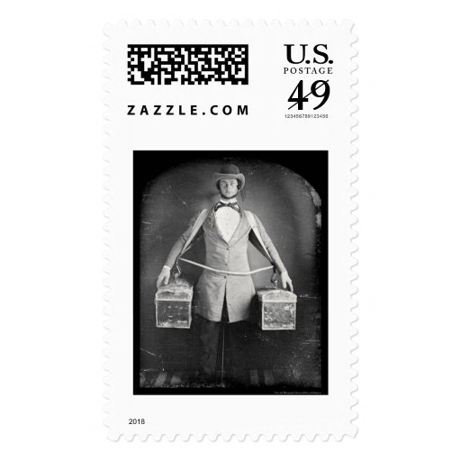 Peddler with Bags Daguerreotype 1848 Postage Stamps