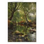 Peder Mønsted A woodland stream CC0465 Card
