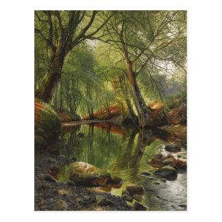 Peder Mønsted A woodland stream CC0466 Postcard