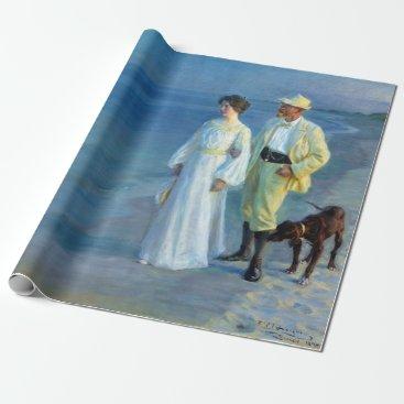 Beach Themed Peder Severin Krøyer Summer Evening Skagen Beach Wrapping Paper
