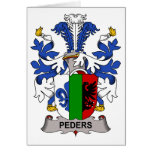 Peders Family Crest Greeting Card