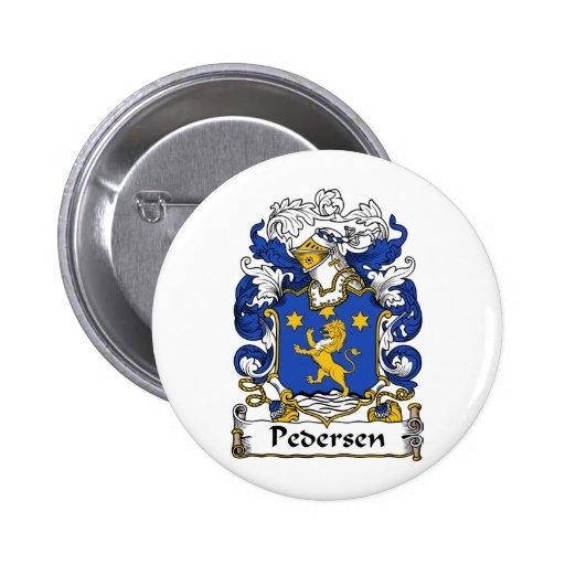 Pedersen Family Crest Pinback Buttons