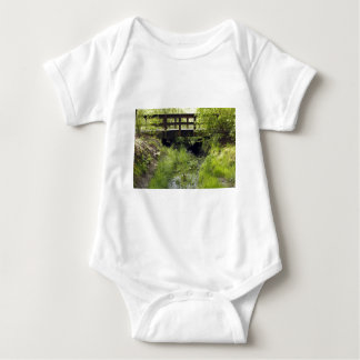 Pedestrian Bridge over a Creek Baby Bodysuit