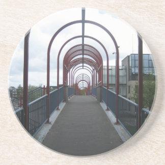 Pedestrian bridge sandstone coaster