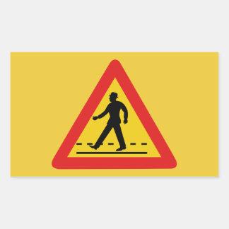 Pedestrian Crossing (1), Traffic Sign, Vietnam Rectangular Sticker