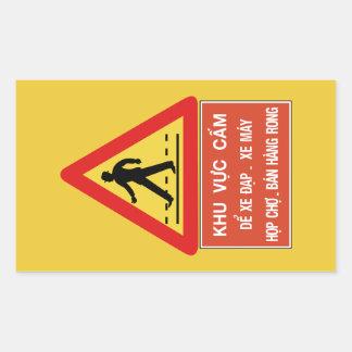 Pedestrian Crossing (2), Traffic Sign, Vietnam Rectangular Sticker