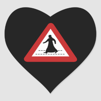 Pedestrian Crossing, Traffic Sign, UAE Heart Sticker