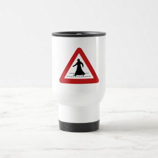 Pedestrian Crossing, Traffic Sign, UAE Travel Mug